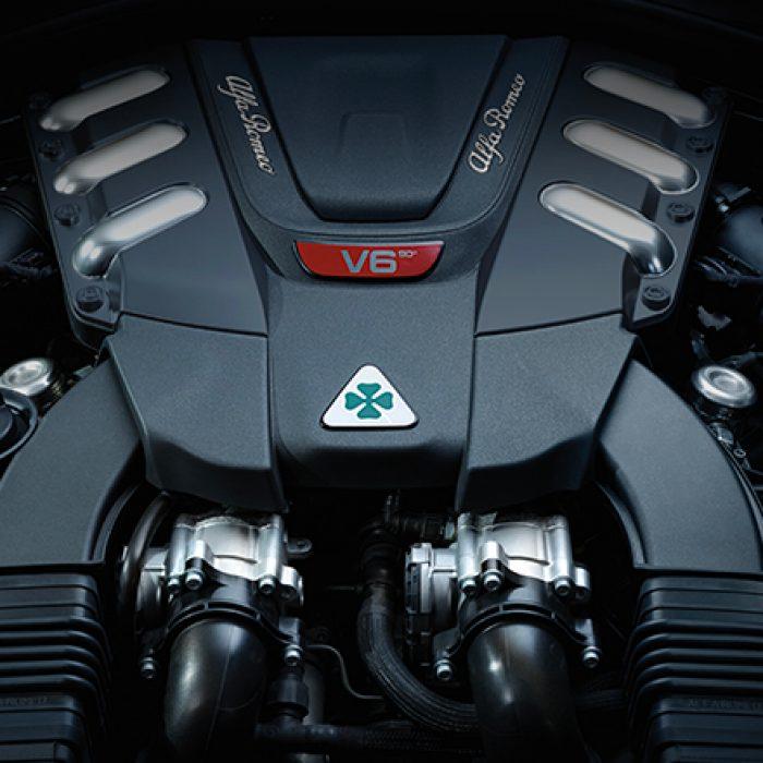 Motor del Alfa Romeo Giulia Quadrifoglio 2019