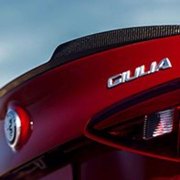 Emblema del Alfa Romeo Giulia Quadrifoglio 2019