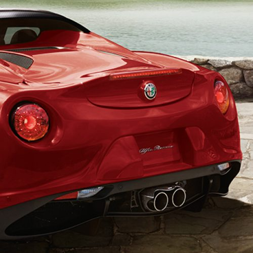 2018 Alfa Romeo 4C Rear View