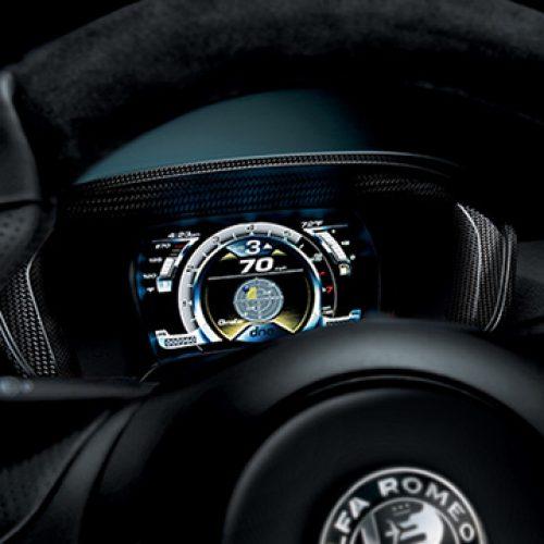 2018 Alfa Romeo 4C Digital Cluster Display
