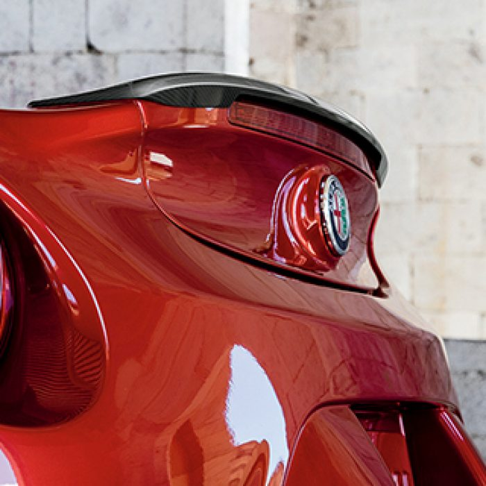 Vista trasera del Alfa Romeo 4C 2018