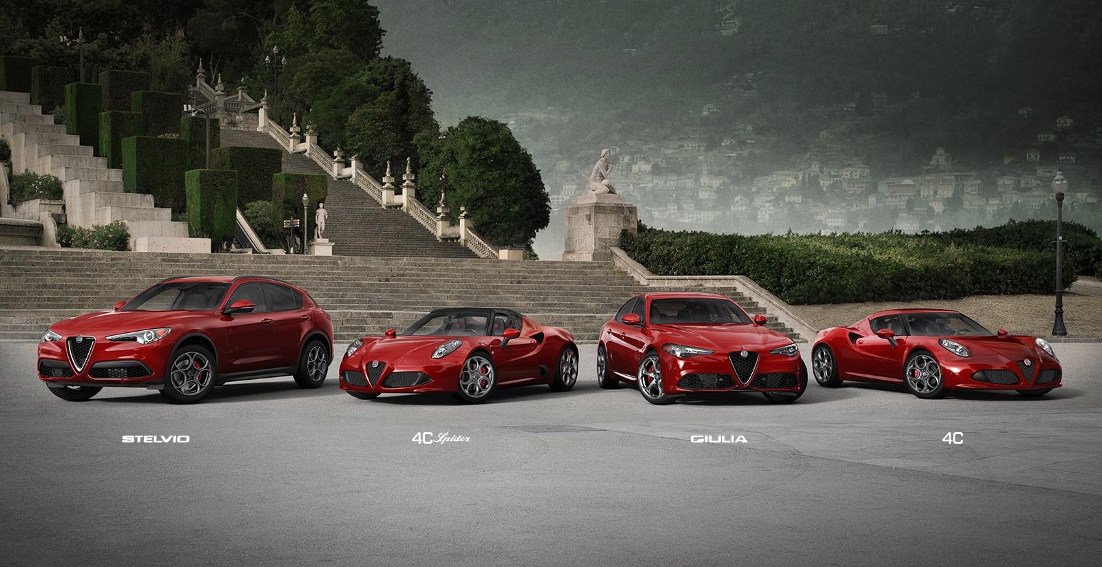 Línea de vehículos Alfa Romeo2018