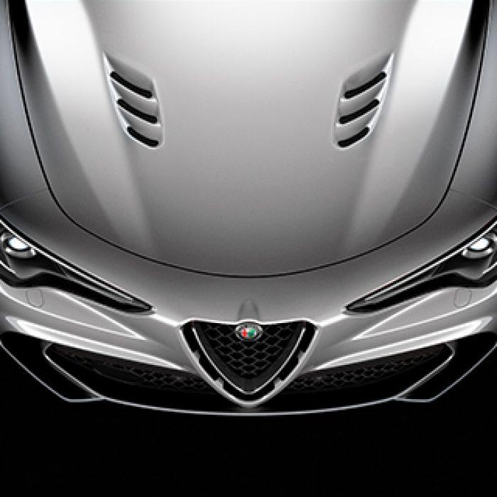 Capó del Alfa Stelvio Quadrifoglio 2018
